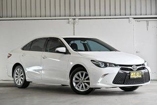 2016 Toyota Camry ASV50R Atara S White 6 Speed Sports Automatic Sedan.
