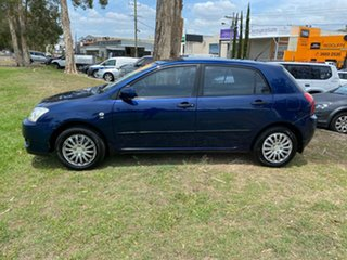 2005 Toyota Corolla ZZE122R 5Y Ascent Blue 4 Speed Automatic Hatchback