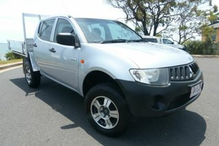 2008 Mitsubishi Triton ML MY09 GLX Double Cab 4x2 Silver 4 Speed Automatic Utility.