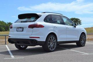 2016 Porsche Cayenne 92A MY17 Diesel Tiptronic Platinum Edition White 8 Speed Sports Automatic Wagon.