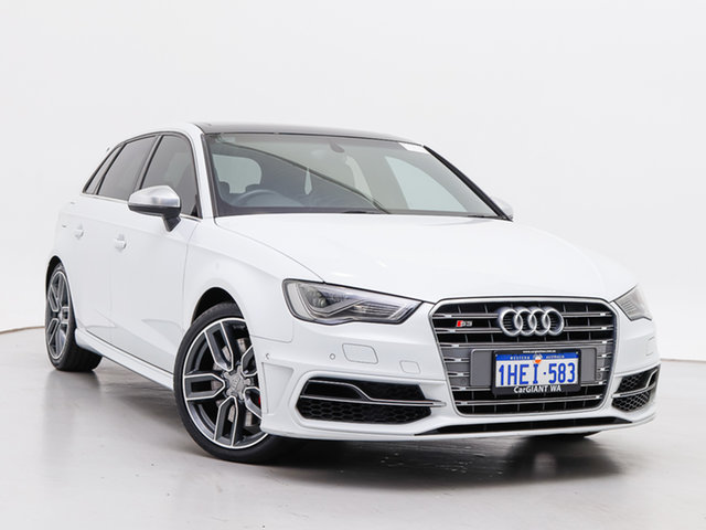 Used Audi S3 8V MY14 2.0 TFSI Quattro, 2014 Audi S3 8V MY14 2.0 TFSI Quattro White 6 Speed Direct Shift Hatchback