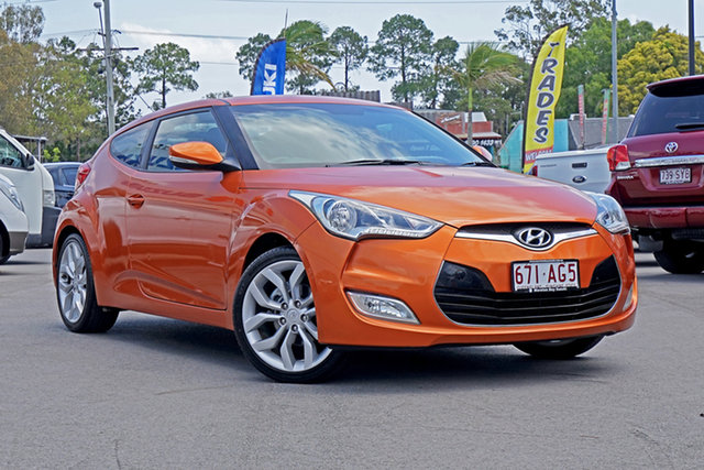 Used Hyundai Veloster FS Coupe D-CT Chandler, 2011 Hyundai Veloster FS Coupe D-CT Orange 6 Speed Sports Automatic Dual Clutch Hatchback