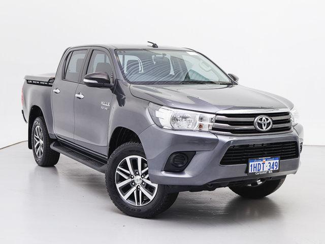 Used Toyota Hilux GUN126R SR (4x4), 2016 Toyota Hilux GUN126R SR (4x4) Grey 6 Speed Automatic Dual Cab Utility
