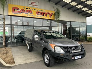 2012 Mazda BT-50 XT (4x4) Grey 6 Speed Manual Freestyle Cab Chassis.
