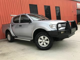 2014 Mitsubishi Triton MN MY15 GLX Double Cab Silver 5 Speed Manual Utility.