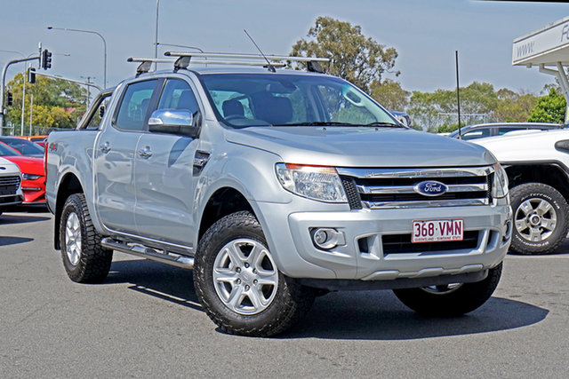 Used Ford Ranger PX XLT Double Cab Ebbw Vale, 2014 Ford Ranger PX XLT Double Cab Silver 6 Speed Sports Automatic Utility
