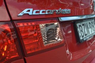 2011 Honda Accord Euro CU MY11 Red 5 Speed Automatic Sedan