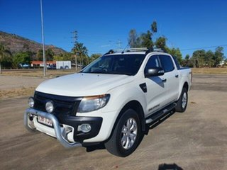 2013 Ford Ranger PX Wildtrak Double Cab Cool White 6 Speed Sports Automatic Utility