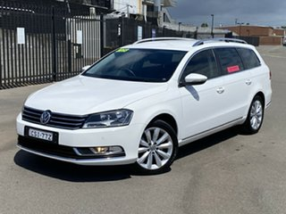 2013 Volkswagen Passat Type 3C MY14 118TSI DSG White 7 Speed Sports Automatic Dual Clutch Wagon.