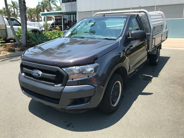 Used Ford Ranger PX MkII XL Acacia Ridge, 2016 Ford Ranger PX MkII XL Grey 6 speed Manual Cab Chassis