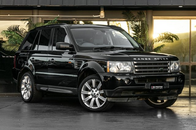 Used Land Rover Range Rover Sport L320 06MY V8 Bowen Hills, 2005 Land Rover Range Rover Sport L320 06MY V8 Black 6 Speed Sports Automatic Wagon