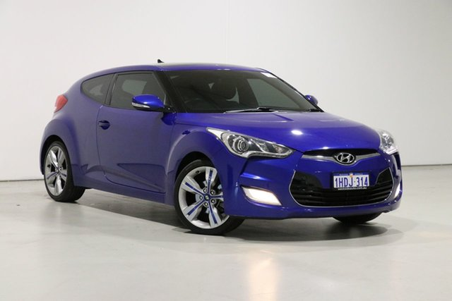 Used Hyundai Veloster FS MY13 + Bentley, 2013 Hyundai Veloster FS MY13 + Blue 6 Speed Auto Dual Clutch Coupe