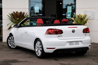 2012 Volkswagen Golf VI MY13 118TSI DSG White 7 Speed Sports Automatic Dual Clutch Cabriolet.