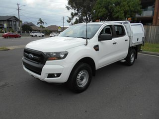 2016 Ford Ranger PX MkII MY17 XL 2.2 Hi-Rider (4x2) White 6 Speed Automatic Crew Cab Chassis.