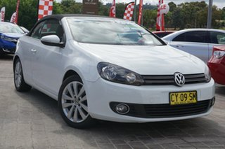 2011 Volkswagen Golf VI MY12 118TSI DSG White 7 Speed Sports Automatic Dual Clutch Cabriolet.