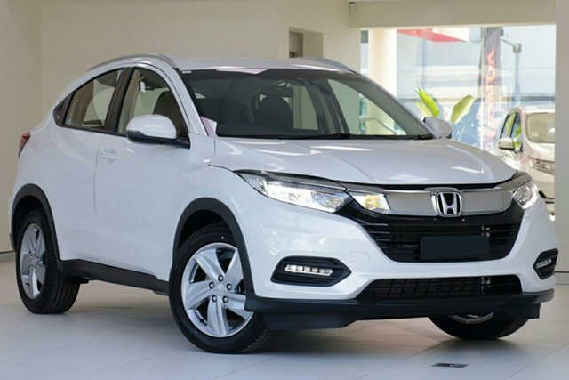 New Honda HR-V MY21 VTi-S Indooroopilly, 2020 Honda HR-V MY21 VTi-S Platinum White 1 Speed Constant Variable Hatchback