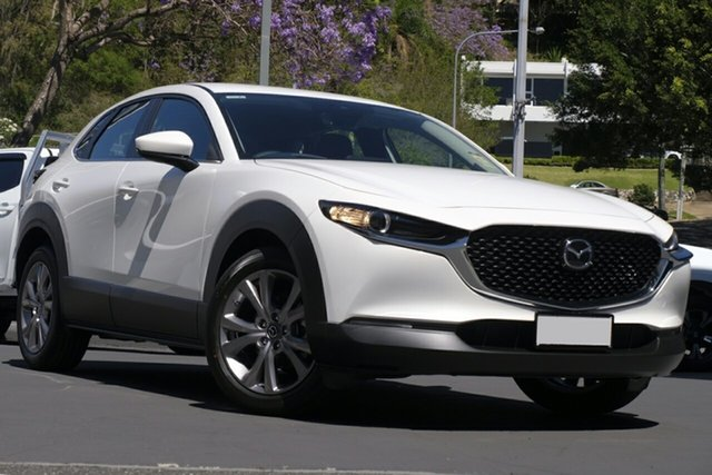 New Mazda CX-30 DM2W7A G20 SKYACTIV-Drive Evolve Hillcrest, 2020 Mazda CX-30 DM2W7A G20 SKYACTIV-Drive Evolve Snowflake White 6 Speed Sports Automatic Wagon