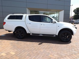 2013 Mitsubishi Triton MN MY13 GLX-R Double Cab White 5 Speed Manual Utility.