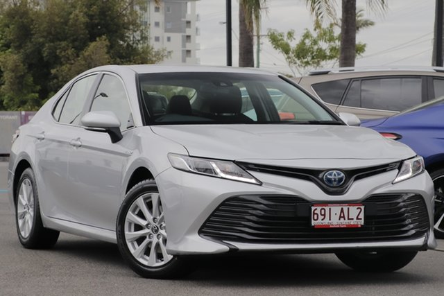 Pre-Owned Toyota Camry AXVH71R Ascent Upper Mount Gravatt, 2019 Toyota Camry AXVH71R Ascent Silver Pearl 6 Speed Constant Variable Sedan Hybrid