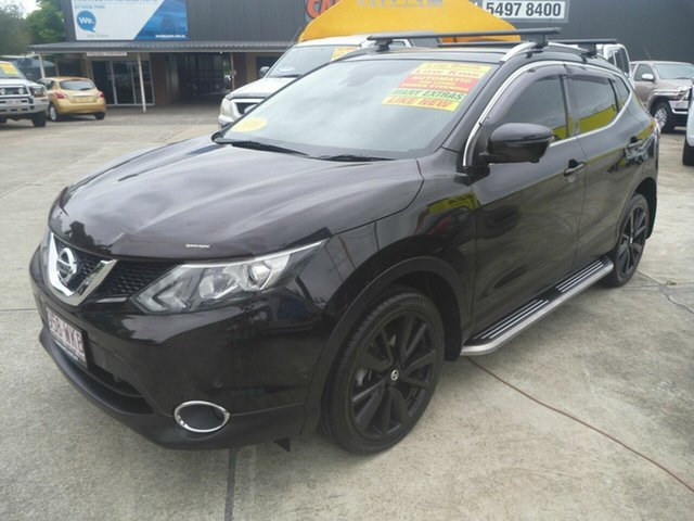 Used Nissan Qashqai J11 TI Morayfield, 2016 Nissan Qashqai J11 TI Black 1 Speed Constant Variable Wagon