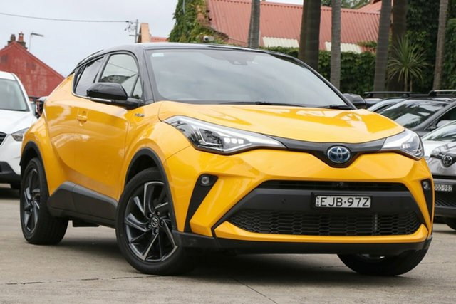 Pre-Owned Toyota C-HR ZYX10R Koba E-CVT 2WD Mosman, 2020 Toyota C-HR Hybrid ZYX10R Koba E-CVT 2WD Hornet Yellow & Black 7 Speed Constant Variable Wagon