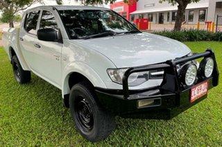 2012 Mitsubishi Triton MN MY13 GLX Double Cab White 5 Speed Manual Utility.