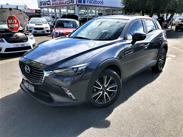 Used Mazda CX-3 DK2W7A sTouring SKYACTIV-Drive Seaford, 2016 Mazda CX-3 DK2W7A sTouring SKYACTIV-Drive Grey 6 Speed Sports Automatic Wagon