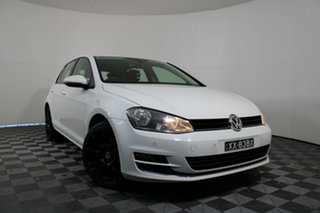 2013 Volkswagen Golf VII 110TDI DSG Highline White 6 Speed Sports Automatic Dual Clutch Hatchback.