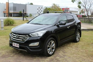2013 Hyundai Santa Fe DM MY14 Highlander Black 6 Speed Sports Automatic Wagon.