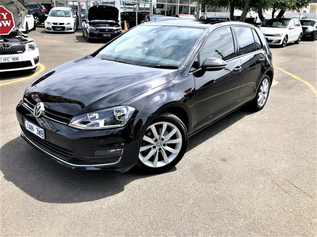 Used Volkswagen Golf VII MY14 103TSI DSG Highline Seaford, 2013 Volkswagen Golf VII MY14 103TSI DSG Highline Black 7 Speed Sports Automatic Dual Clutch
