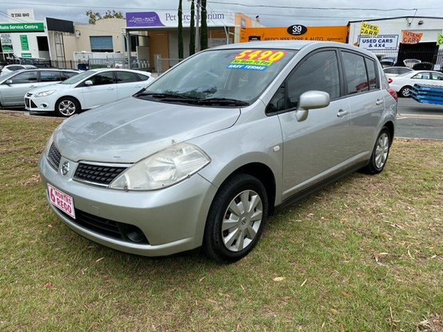 Used Nissan Tiida C11 MY07 ST Clontarf, 2007 Nissan Tiida C11 MY07 ST White 6 Speed Manual Hatchback