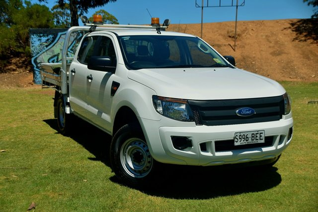 Used Ford Ranger PX XL Hi-Rider St Marys, 2014 Ford Ranger PX XL Hi-Rider White 6 Speed Sports Automatic Cab Chassis