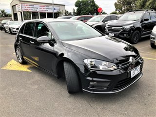 2015 Volkswagen Golf VII MY15 103TSI DSG Highline Black 7 Speed Sports Automatic Dual Clutch.