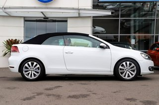 2012 Volkswagen Golf VI MY13 118TSI DSG White 7 Speed Sports Automatic Dual Clutch Cabriolet