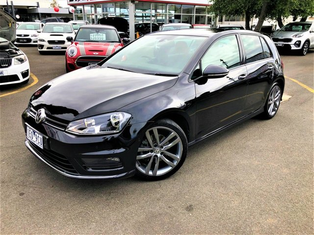 Used Volkswagen Golf VII MY15 103TSI DSG Highline Seaford, 2015 Volkswagen Golf VII MY15 103TSI DSG Highline Black 7 Speed Sports Automatic Dual Clutch