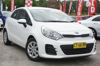 2016 Kia Rio UB MY16 S White 6 Speed Manual Hatchback.