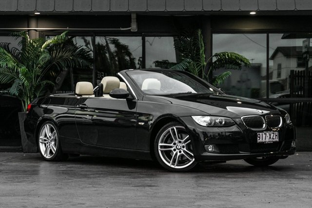 Used BMW 3 Series E93 325i Steptronic Bowen Hills, 2007 BMW 3 Series E93 325i Steptronic Black 6 Speed Sports Automatic Convertible