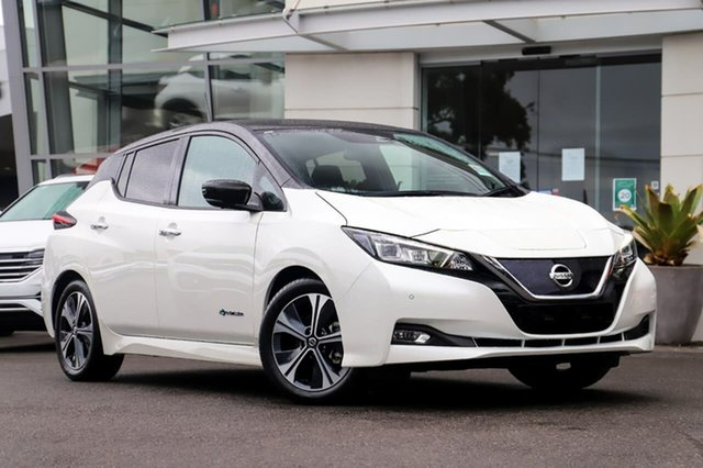 New Nissan Leaf ZE1 Sutherland, 2020 Nissan Leaf ZE1 Ivory Pearl & Black Roof 1 Speed Reduction Gear Hatchback