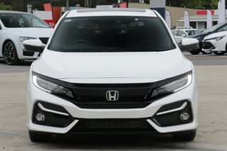 2020 Honda Civic 10th Gen MY20 VTi-LX Platinum White 1 Speed Constant Variable Hatchback