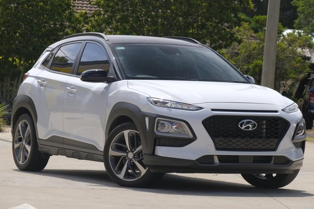 Used Hyundai Kona OS MY18 Launch Edition D-CT AWD Toowoomba, 2017 Hyundai Kona OS MY18 Launch Edition D-CT AWD White 7 Speed Sports Automatic Dual Clutch Wagon