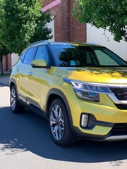 2019 Kia Seltos SP2 MY20 GT-Line DCT AWD Starbright Yellow 7 Speed Sports Automatic Dual Clutch.