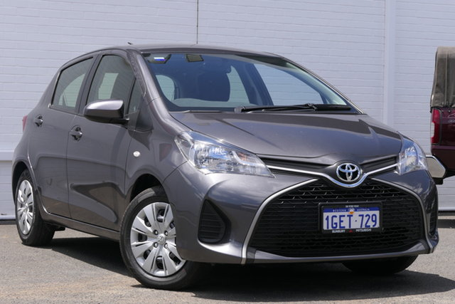 Used Toyota Yaris NCP130R Ascent Bunbury, 2016 Toyota Yaris NCP130R Ascent Grey 4 Speed Automatic Hatchback