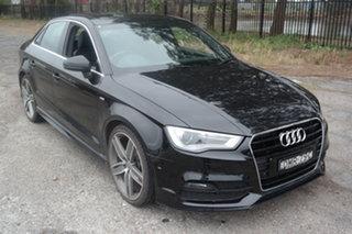 2016 Audi A3 8V MY16 Ambition S Tronic Black 7 Speed Sports Automatic Dual Clutch Sedan.