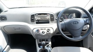 2008 Hyundai Accent MC MY07 S White 5 Speed Manual Sedan