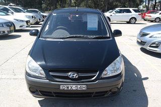 2009 Hyundai Getz TB MY09 SX Black 5 Speed Manual Hatchback.