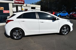 2016 Hyundai i30 GD4 Series II MY17 Active X DCT White 7 Speed Sports Automatic Dual Clutch.