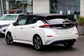 2020 Nissan Leaf ZE1 Ivory Pearl & Black Roof 1 Speed Reduction Gear Hatchback