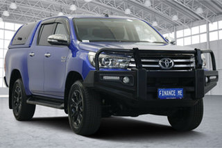 2017 Toyota Hilux GUN126R SR5 Double Cab Blue 6 Speed Sports Automatic Utility.
