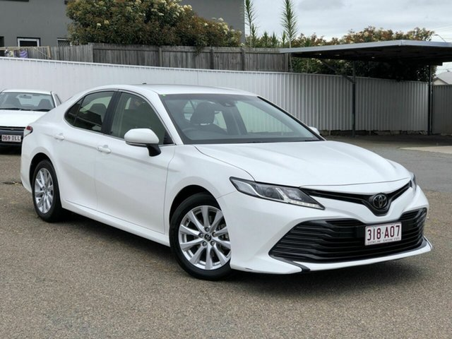 Used Toyota Camry ASV70R Ascent Chermside, 2019 Toyota Camry ASV70R Ascent White 6 Speed Sports Automatic Sedan