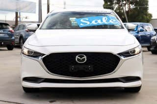 2019 Mazda 3 BP2S7A G20 SKYACTIV-Drive Pure Snowflake White 6 Speed Sports Automatic Sedan